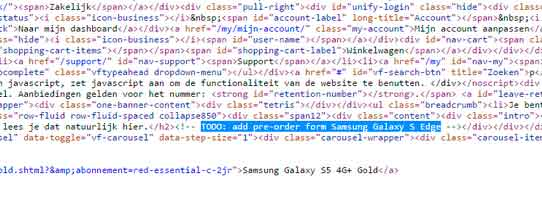 Утечка Vodafon - Galaxy S edge