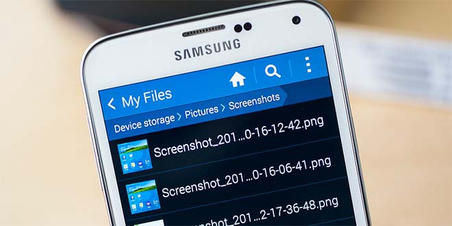 Скрин экрана на Galaxy S6