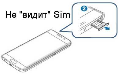 Galaxy S6 не находит сим-карту
