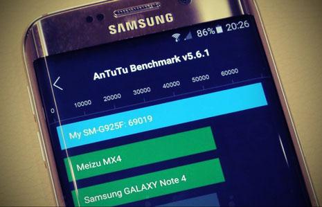 Показатели Antutu у оригинального Galaxy S6