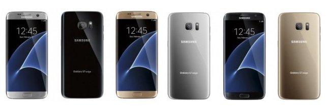 Все доступные цветовые решения Galaxy s7