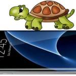 медленно работает Samsung s7