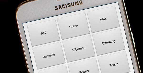 тестовое меню Galaxy s7