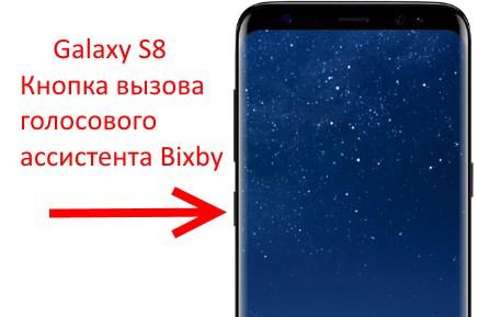 Кнопка вызова Bixby на Galaxy S8