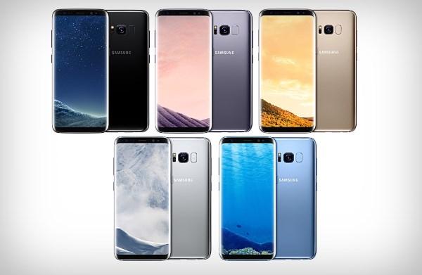 Цвета корпуса Galaxy S8