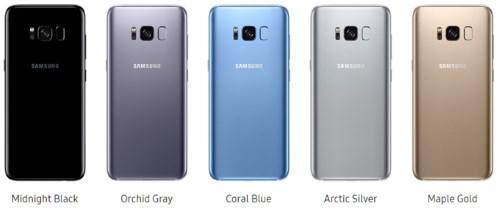 Все возможные цвета Galaxy S8