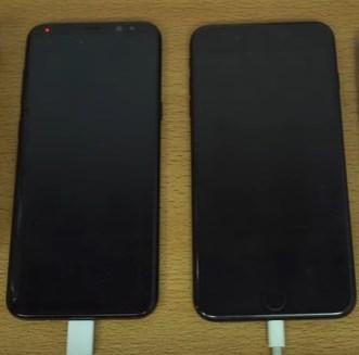 Galaxy S8 заряжается намного быстрей iPhone 7