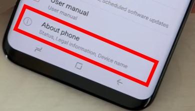 """Пункт """"О телефоне"""" в Galaxy S8"""