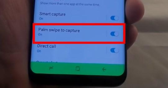 Снимок экрана при помощи жестов