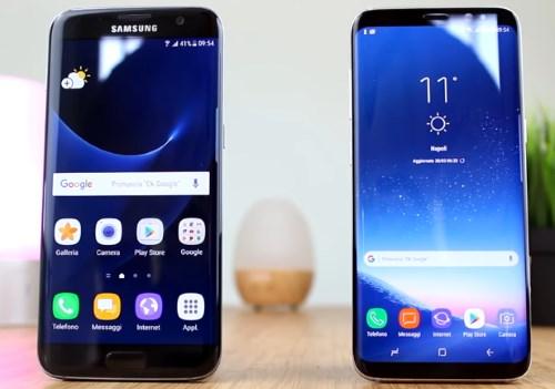 Сравнение дисплеев Galaxy S8 и S7