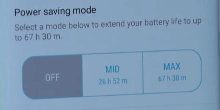 Режим энергосбережения Galaxy S8