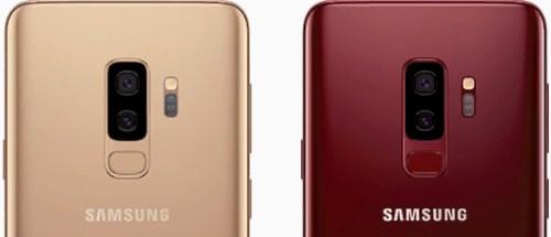 Новые цвета Galaxy S9 - платина и бургунди