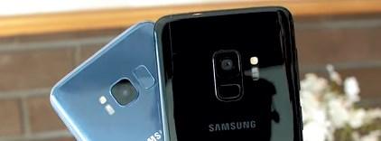 У Galaxy S9 и S8 разное расположение датчика отпечатка пальца