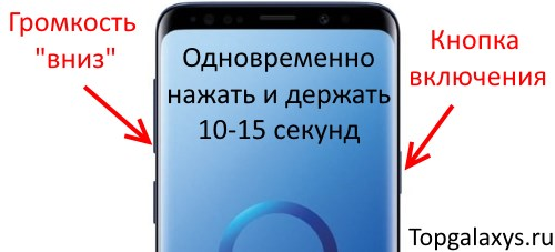 Принудительный перезапуск Galaxy S9