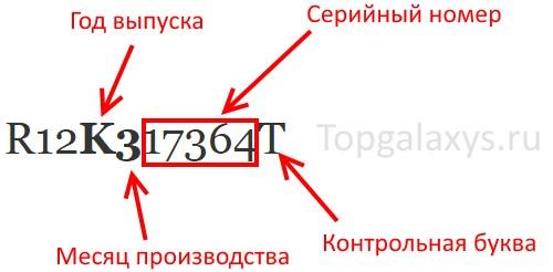 Дата производства в серийном номере Galaxy S8 и S9