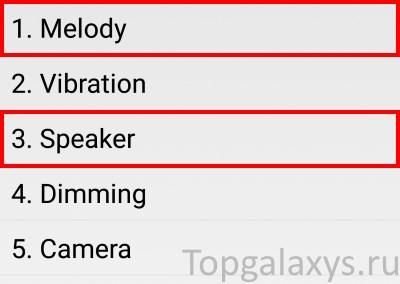 Тестовое меню для проверки звука на Galaxy S9